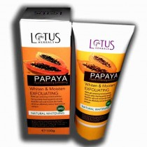 lotus papaya hydra whitening exfoliating 100 gms