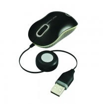 Cliptec Mini Retractable RZS-977 Blue Optic Mouse SKU-3814