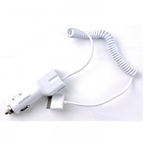 Cliptec GZU393 USB Car Charger with iPhone Cable SKU-2608