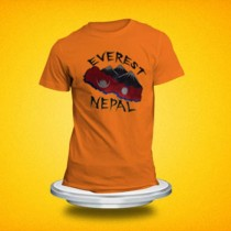 Embroidery Everest Nepal T-Shirt SKU-7823 Size Small(S) Meidum(M) Large(L) Xtra Large(XL)