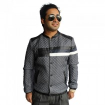 Korean Full Sleeve Boxed Grey Jacket SKU-KFJ01 Meidum , Large