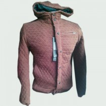 Brown Hooded Design Stylish Jacket For Men SKU-KFJ05