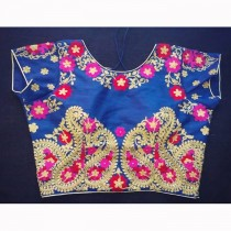 Threat Work Raw Silk Blouse(Blue) Be the first to review this product SKU-19560