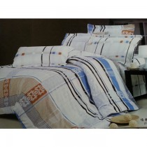 Stripe Korean King Size Bedsheet With Pillow Covers SKU-15726