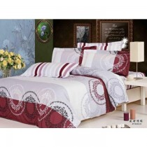 Two Coloured Korean King Size Bedsheet With Pillow Covers SKU-15727