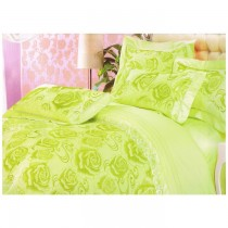 Luxury 4 pc green colour Bedding Set (Duvet cover Included)SKU-15732