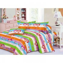 Cartoon Design Single Sized Bed Sheet With One Pillow Cover SKU-15736