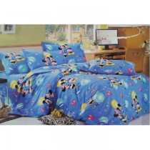 Mickey Single Sized Bed Sheet With One Pillow Cover SKU-15721