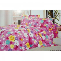 Pink Flower Prints 100Parsent Pure Cotton Bed Sheet Small Size SKU-15740