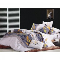 Leafy Authentic Korean King Size Bedsheet with Pillows Cover SKU-15720