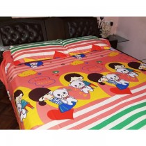 Doll Design 3D Bed Sheet with pillow cover SKU-15707