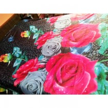 Printed 3D Bed Sheet With Pillow Cover SKU-15714