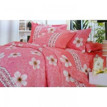 Superior Cotton Pink Flowers Bed-Sheet Small Size SKU-15743