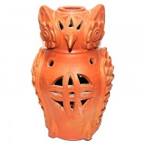 Terracotta Clay Owl Lamp SKU-2203