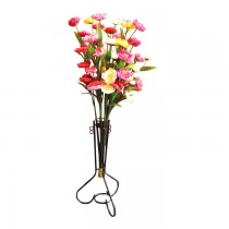Decorative Plastic Flower With Vase (5 Sticks) SKU-3122