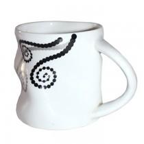 Crumpled Style Ceramic Cup Set - 6 Pcs SKU-3118