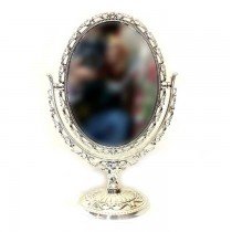 Small Mirror with Silver Plated Frame SKU-3105