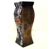 Wooden Design Ceramic Flower Vase SKU-3109