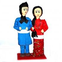 Traditional Tamang Couple Dolls SKU-2402